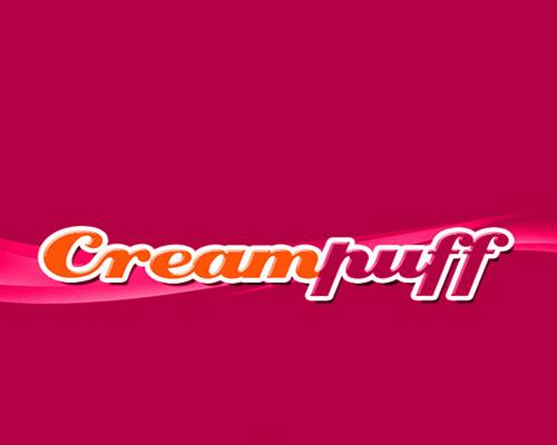 Poster Fonts Creampuff