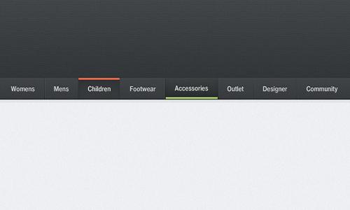 21 Free High Quality Navigation Menu PSD