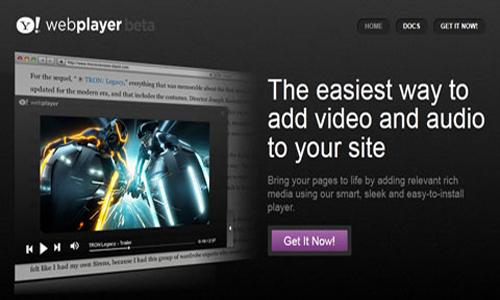 yahoo webplayer