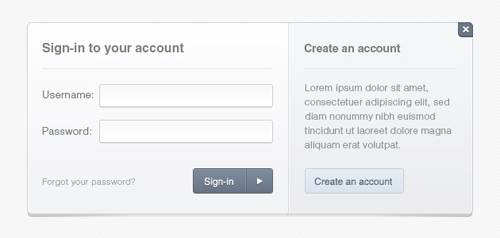 20 beautiful login forms for designers