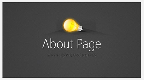About Page With CSS3