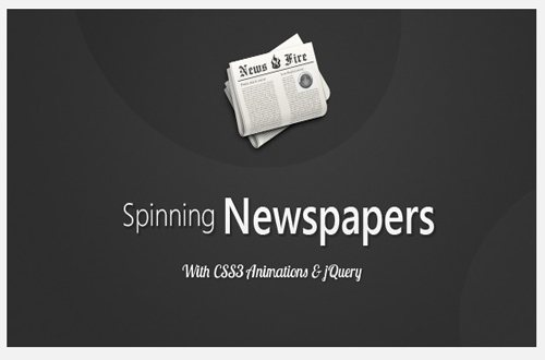 Spinning news paper