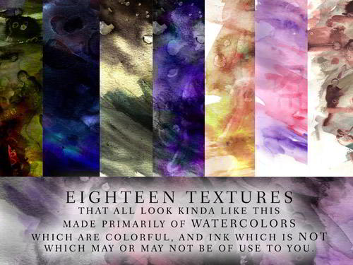 18 Watercolor texture pack