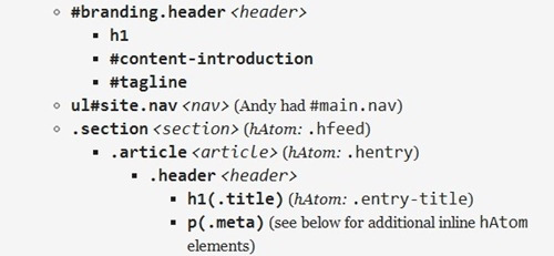 HTML5 id class Name Cheat Sheet