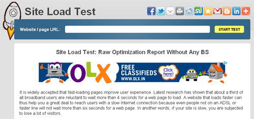 Site Load Test