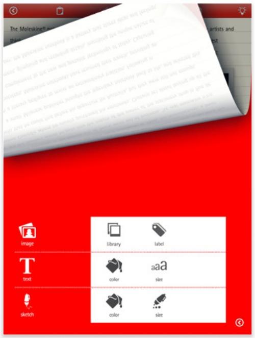 Moleskine iPad App
