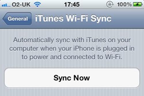 iTune Wi-Fi-Sync