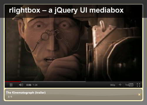 rlightbox – A jQuery UI Mediabox