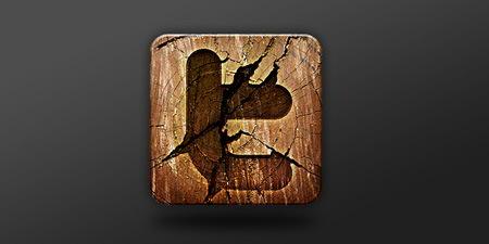 Wooden Media Icon