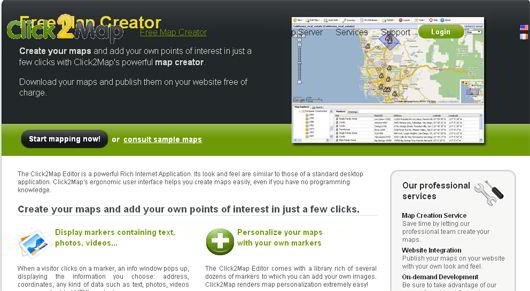 click2map