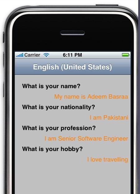 localizing iPhone