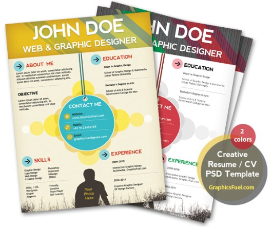 15 free resume photoshop templates for enhancing the chance of being hired