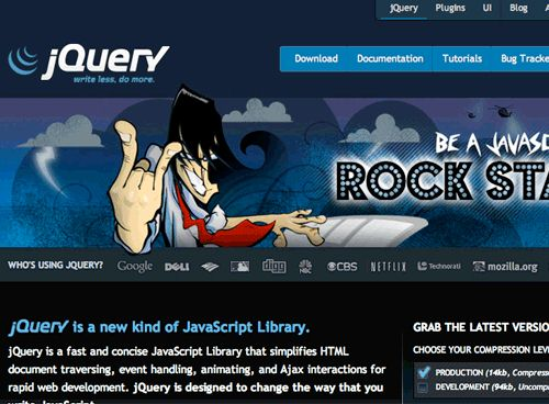 jquery websites of the year 2011