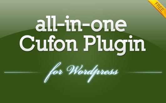 Cufon Typography Plugin
