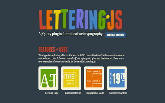 Lettering Js. Typography JQuery Plugin