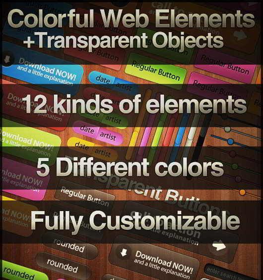 Multi Color Web Elements