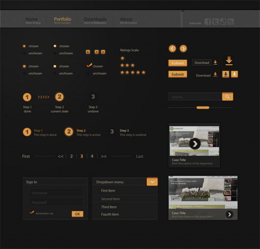 Sunset Web UI KIt