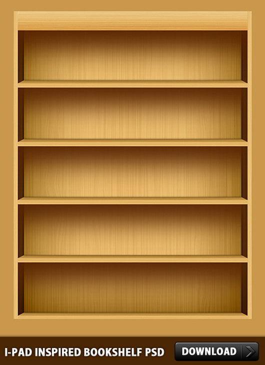 iPad-Inspired-Bookshelf-PSD