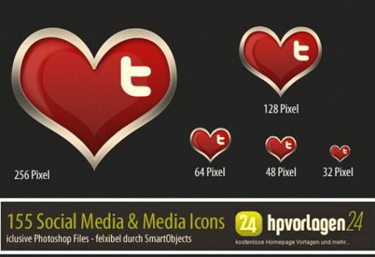 30 Valentines Icon PSD