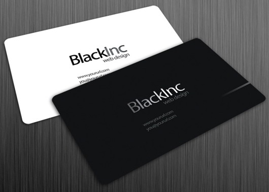 35 best free business card templates skytechgeek black inc free business card template wajeb Image collections