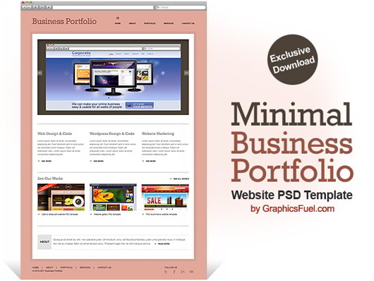 Business Portfolio Website PSD Template