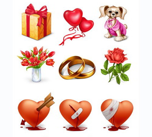 Free Valentine and Gift Icon set