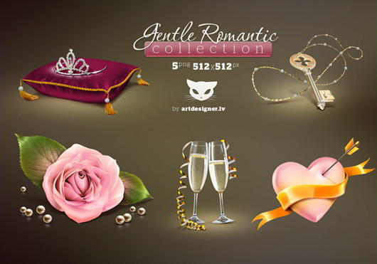 Gentle Romantic Icon set