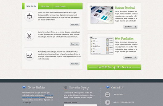 Magante Professional Website PSD Template