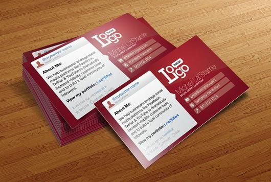 Social Media Business Card Template SkyTechGeek