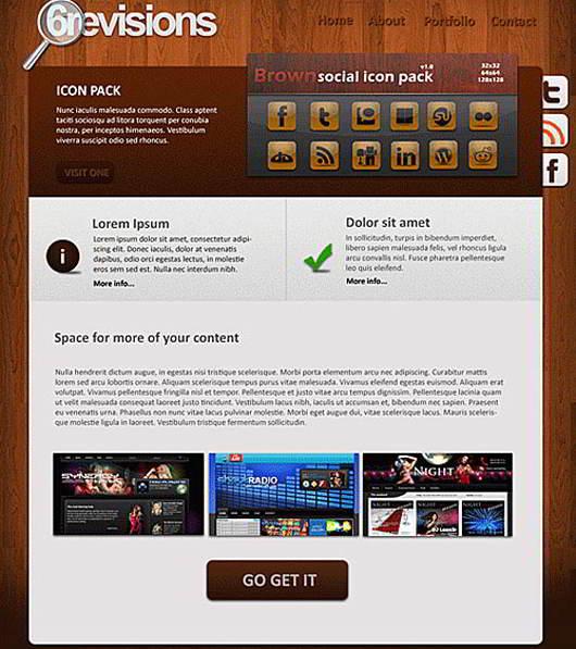Wooden-Portfolio-Free-PSD-template-L