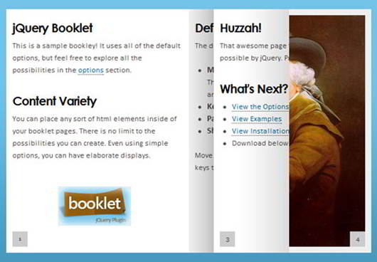 Jquery Book Page Flip Effect