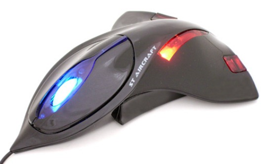 Aircraft Computer Mouse With Led Lights Skytechgeek