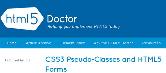 CSS3  Pseudo-Classes and HTML5 Forms