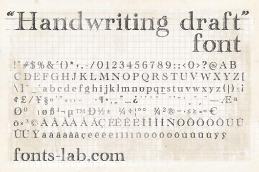 Handwriting Draft