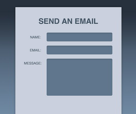 Stylish Contact Form with HTML5 & CSS3
