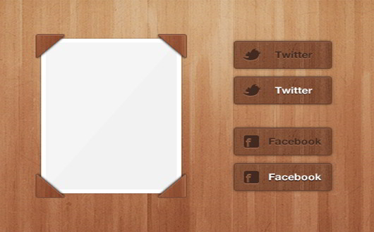 Wood Social Button & Thumbnail