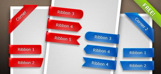 Glossy_PSD_Ribbons
