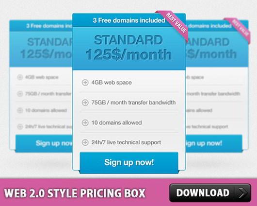 Web-2-style-pricing-box