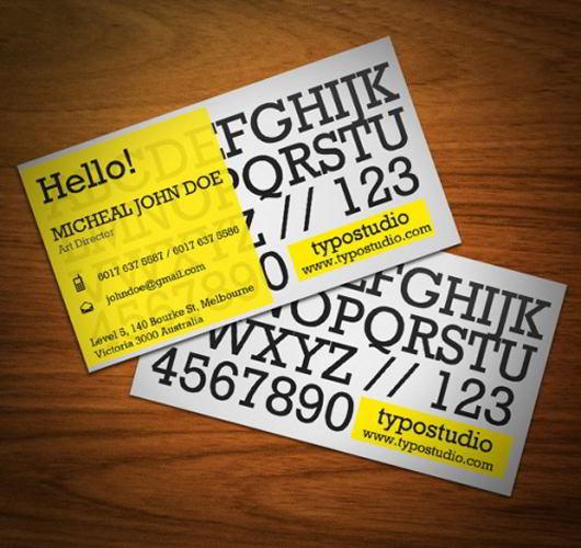alphabet-business-card