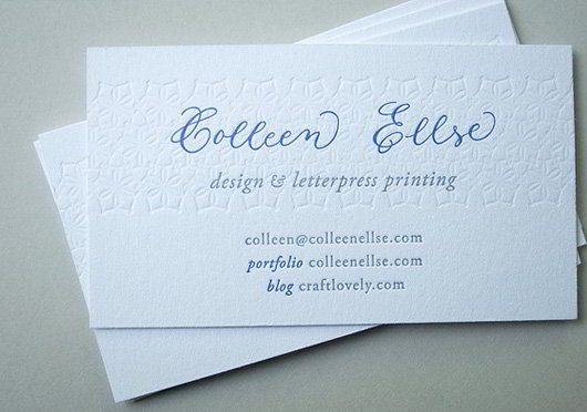 Fresh and striking business cards in pristine white skytechgeek