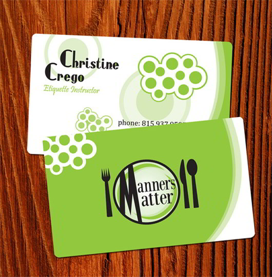 etiquette-green-business-card