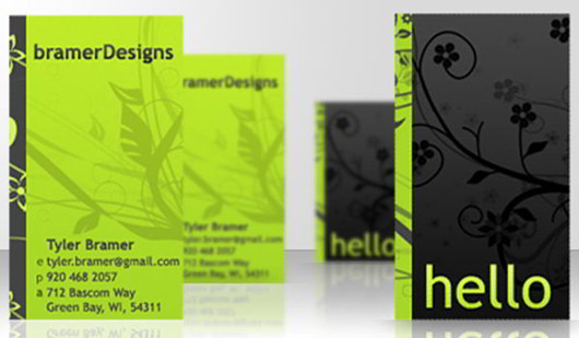 freelance-green-business-card