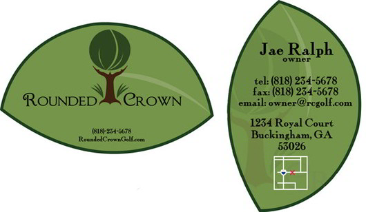 green-leaf-green-business-card