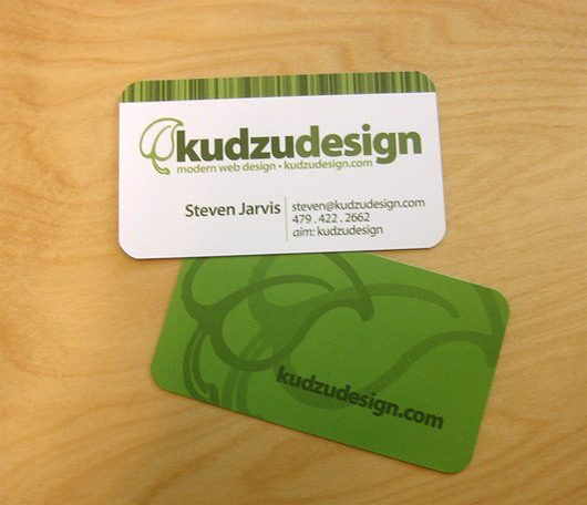 kudzu-design-green-business-card