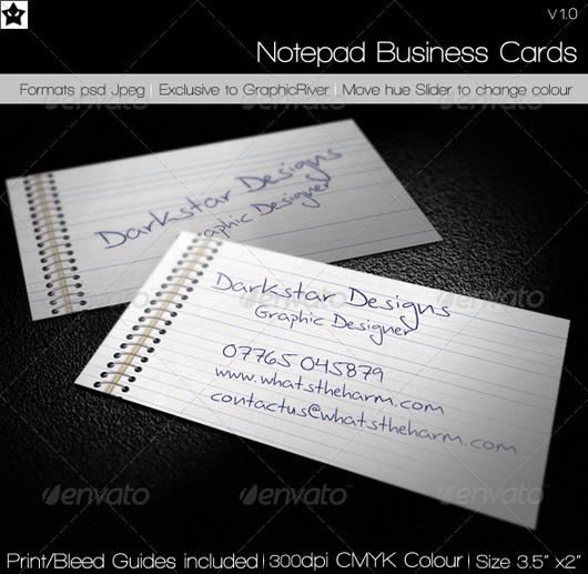 30 fresh and striking business cards in pristine white skytechgeek notepad business card colourmoves Gallery