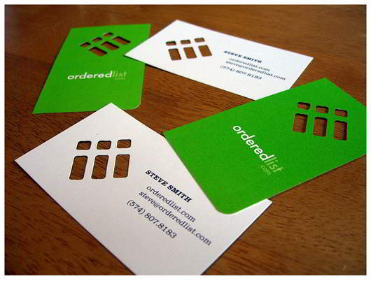 order-list-green-business-card