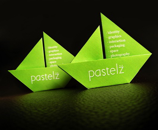 origami-green-business-card