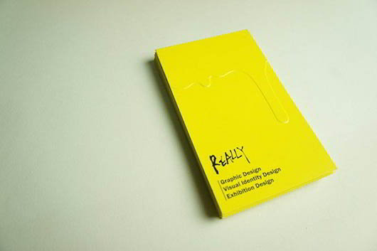 really-yellow-business-card