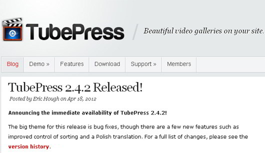 tube-press-wordpress-plugin