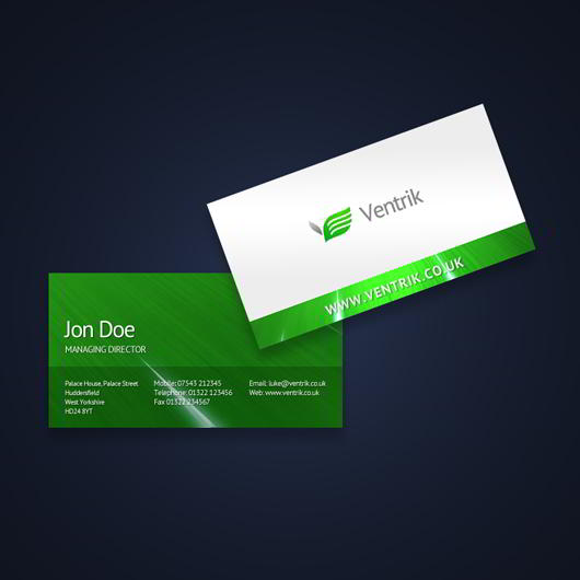 ventrik-green-business-card